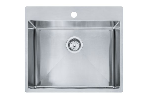 Large image of Franke Vector Stainless Steel Single Bowl Kitchen Sink - HFS2522-1