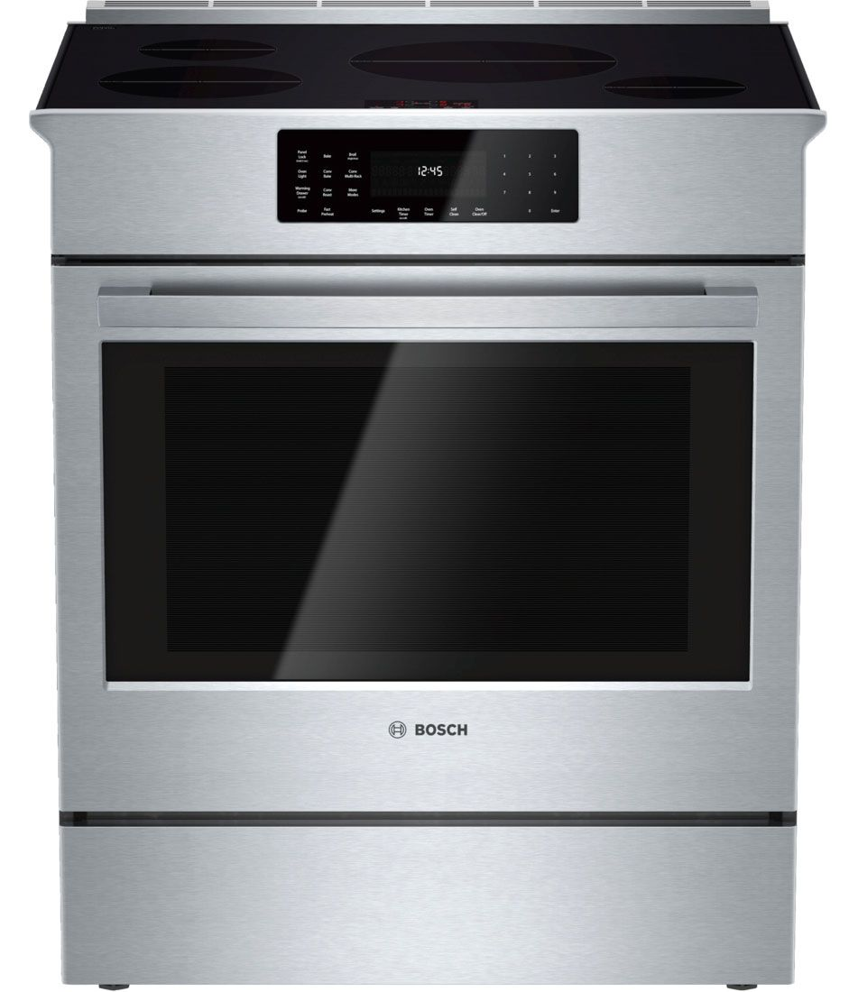 Bosch 30 800 Series Stainless Steel Slide In Induction Range Hii8055u
