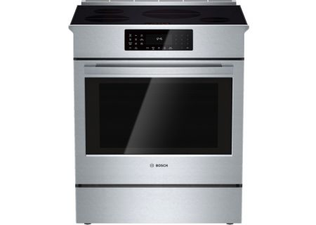 "Bosch 30"" 800 Series Stainless Steel Slide-In Induction Range  - HII8055U"