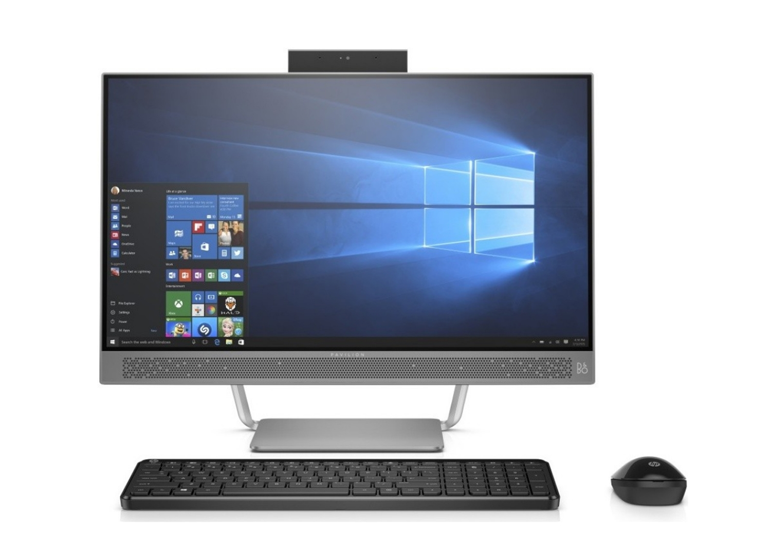 HP Silver Pavilion All-In-One Desktop Computer - HP-PV24-A010