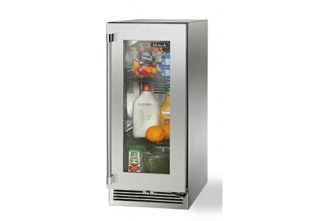 "Perlick 15"" Stainless Steel Glass Door Signature Series Outdoor Refrigerator  - HP15RO-3-3R"
