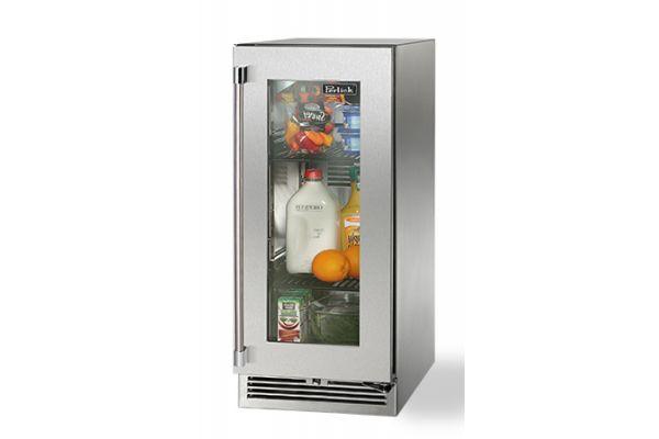 """Perlick 15"""" Stainless Steel Glass Door Signature Series Outdoor Refrigerator  - HP15RO-3-3R"""