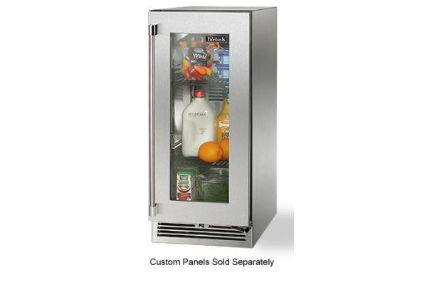 "Perlick 15"" Panel Ready Glass Door Signature Series  Outdoor Refrigerator  - HP15RO-3-4R"