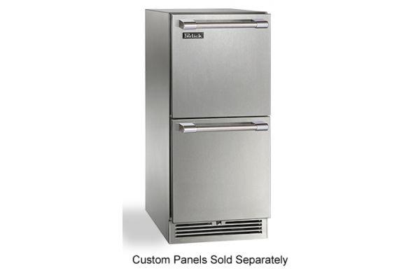 "Perlick 15"" Panel Ready Signature Series Outdoor Refrigerator Drawers  - HP15RO-3-6"