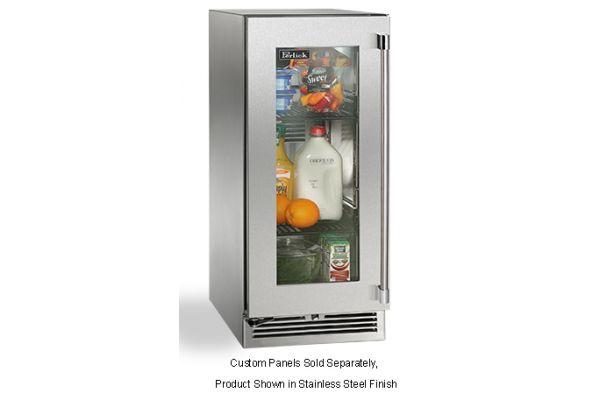 """Perlick 15"""" Panel Ready Glass Door Signature Series Left Hinge Indoor Refrigerator - HP15RS-3-4L"""