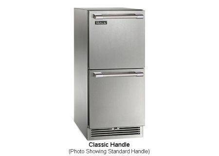 """Perlick 15"""" Stainless Steel Signature Series Indoor Refrigerator Drawers - HP15RS-3-5C"""