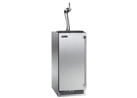 """Perlick Signature Series Adara 15"""" Solid Stainless Steel Door Left Hinged Indoor Beer Dispenser - HP15TS-3-1LA"""