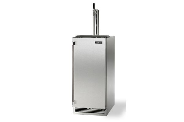 "Perlick 15"" Stainless Steel Signature Series Indoor Beer Dispenser  - HP15TS-3-1R"