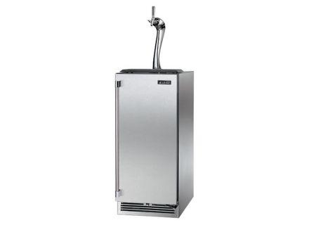 """Perlick Signature Series Adara 15"""" Solid Stainless Steel Door Right Hinged Indoor Beer Dispenser - HP15TS-3-1RA"""