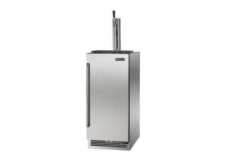 "Perlick Signature Series 15"" Solid Stainless Steel Door Right Hinged Indoor Beer Dispenser - HP15TS-3-1RC"