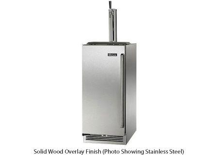 "Perlick 15"" Solid Wood Overlay Signature Series Indoor Beer Dispenser - HP15TS-3-2L"