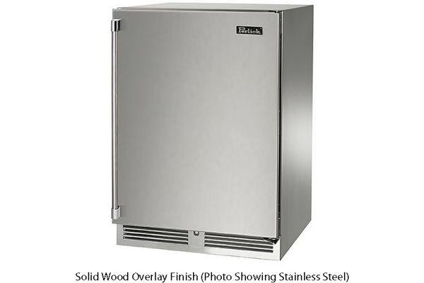 "Perlick 24"" Solid Wood Overlay Signature Series Indoor Beverage Center - HP24BS-3-2R"