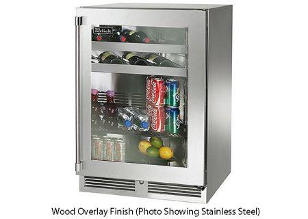 """Perlick 24"""" Wood Overlay Signature Series Indoor Beverage Center - HP24BS-3-4R"""