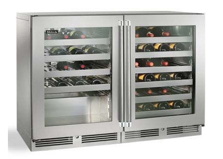 "Perlick 48"" Stainless Steel Glass Door Signature Series Wine Reserve - HP48WO-S-3-3L-3R"