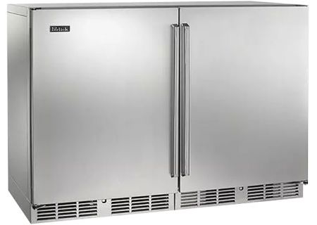 "Perlick 48"" Signature Series Stainless Steel Solid Doors Indoor Wine Reserve - HP48WW-S-3-1L-1RC"