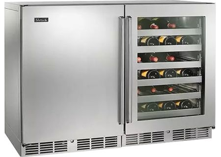 "Perlick 48"" Signature Series Stainless Steel Indoor Wine Reserve - HP48WW-S-3-1L-3RC"