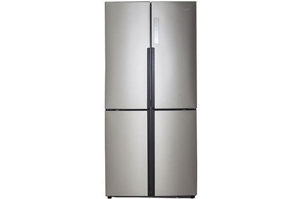 Large image of Haier 16.4 Cu. Ft. Stainless Steel Quad Door Refrigerator - HRQ16N3BGS