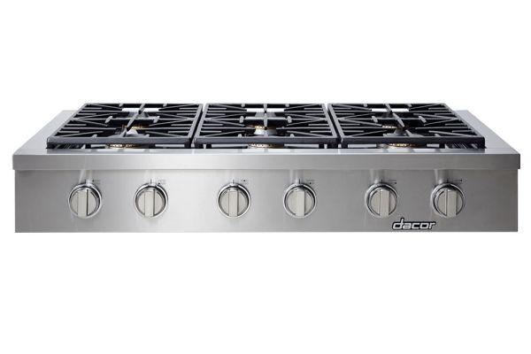 "Large image of Dacor Professional 48"" Stainless Steel Liquid Propane Gas Rangetop - HRTP486S/LP"