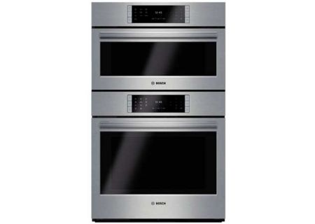 "Bosch 30"" Benchmark Series Stainless Steel Steam Built-In Convection Combination Double Wall Oven - HSLP751UC"