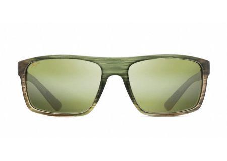 Maui Jim Byron Bay Matte Green Stripe Mens Sunglasses  - HT746-15MR