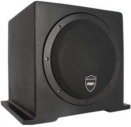 Wet Sounds 10 Quot Black Marine Subwoofer System Ht As10