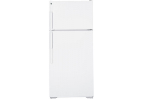 GE - HTH17CBDRWW - Top Freezer Refrigerators