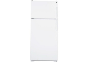GE - HTH17CBDLWW - Top Freezer Refrigerators