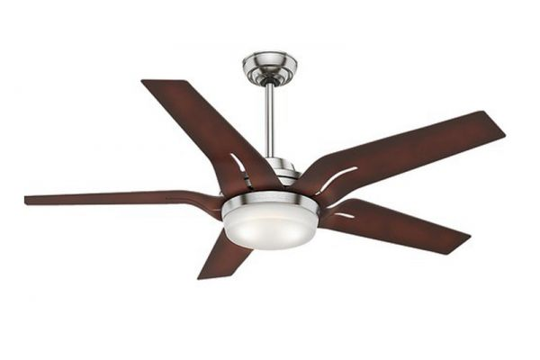 "Large image of Casablanca 56"" Correne Brushed Nickel With Coffee Beech Blades Ceiling Fan - HTRC59198"