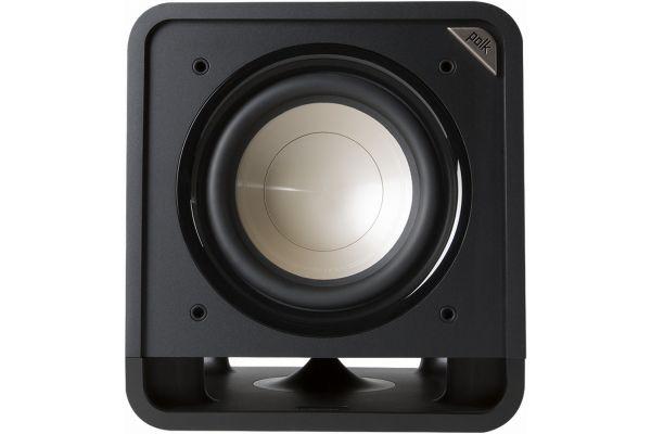"""Large image of Polk Audio HTS 10"""" Powered Washed Black Walnut Subwoofer - AM7416-A"""