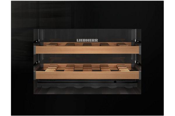 "Large image of Liebherr 24"" Black Built-In Wine Refrigerator - HWGB-1803"