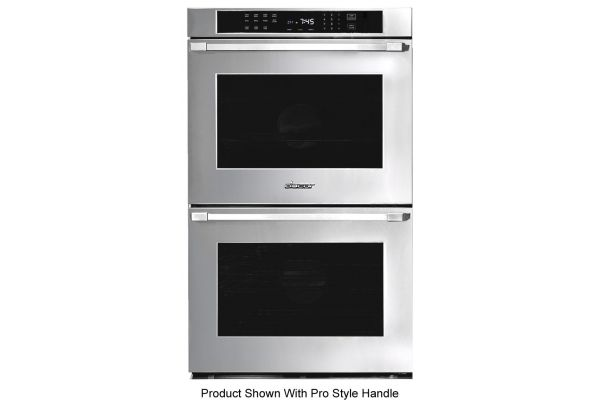 """Dacor Heritage 27"""" Stainless Steel Flush Style Double Wall Oven - HWO227FS"""