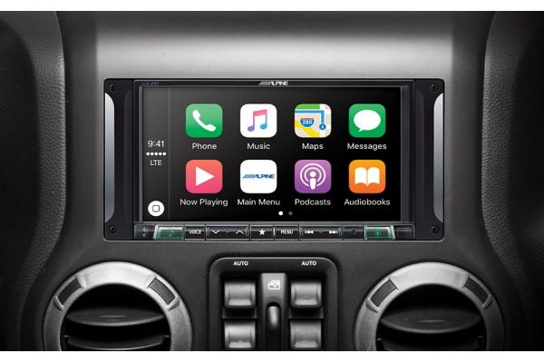 """Alpine 7"""" Restyle Mech-Less In-Dash System For Jeep Wrangler (2011-2017) - I207-WRA"""