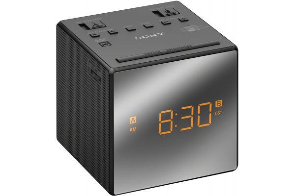 Large image of Sony Black Mirrored Clock Radio - ICFC1TBLACK