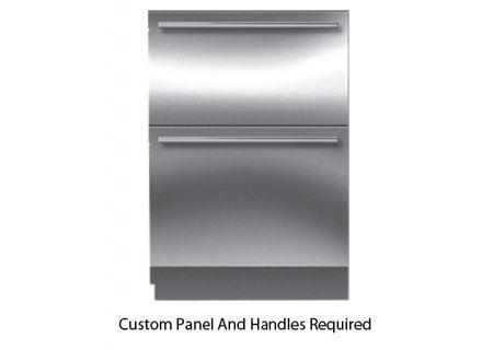 "Sub-Zero 24"" Panel Ready Integrated Double Drawer Freezer - ID-24F"