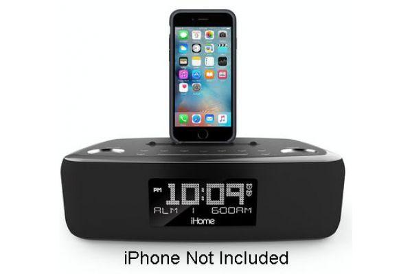 iHome Black Dual Charging Alarm Clock Stereo System  - IDL44GC