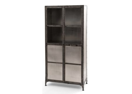 Four Hands Element Collection Antique Nickel Cabinet - IELE-CAB-NKLANT