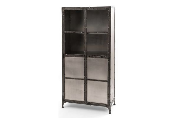 Large image of Four Hands Element Collection Antique Nickel Cabinet - IELE-CAB-NKLANT