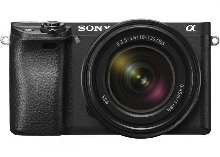 Sony a6300 24.2 Megapixel Black Mirrorless Camera With 18-135mm Zoom Lens - ILC-E6300M/B