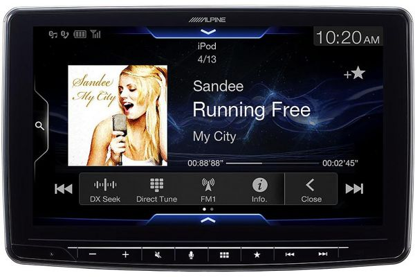"""Large image of Alpine Halo9 9"""" Mech-Less Audio Video Receiver - ILX-F309"""