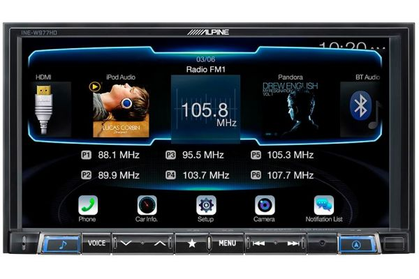 "Alpine 7"" Mech-Less AV Navigation System - INE-W977HD"