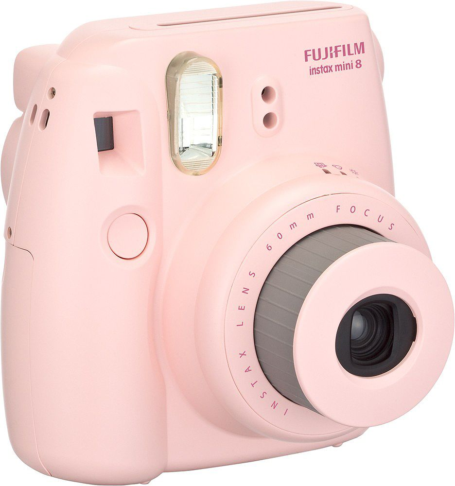fujifilm instax mini 8 pink instant film camera 7491. Black Bedroom Furniture Sets. Home Design Ideas