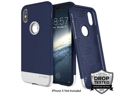 Prodigee Fit Pro Navy Blue And Silver For iPhone X - IPHX-FITP-NVY-SLV
