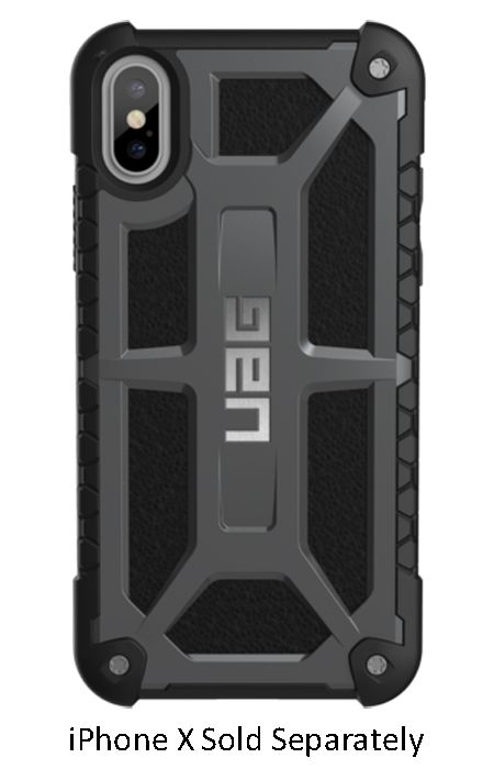 quality design 60adb eed77 Urban Armor Gear Graphite Monarch Series iPhone X Case