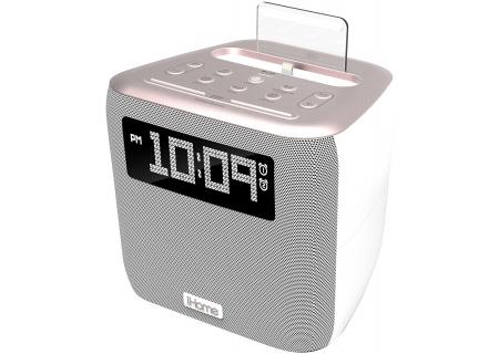 iHome Rose Gold Dual Alarm FM Clock Radio - IPL24RGD