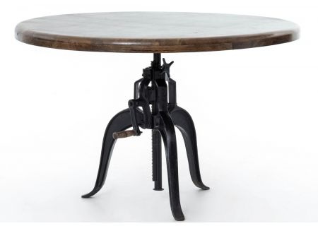 "Four Hands Rockwell 48"" Adjustable Round Dining Table - IRCK-034"