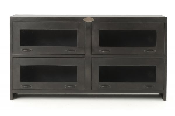 Four Hands Antiqued Iron Rockwell Media Cabinet - IRCK-MC-214