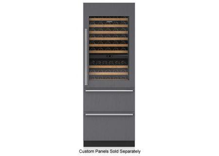 "Sub-Zero 30"" Panel Ready Integrated Wine Storage With Refrigerator & Freezer Drawers - IW-30CI-RH"