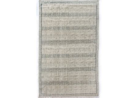 Four Hands Willow Collection 9x12 Flatweave Faded Block Print Rug - IWIL-010