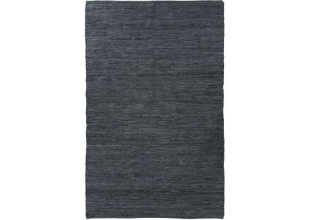 Four Hands Willow Collection 8x10 Woven Leather Slate Blue Rug - IWIL-038