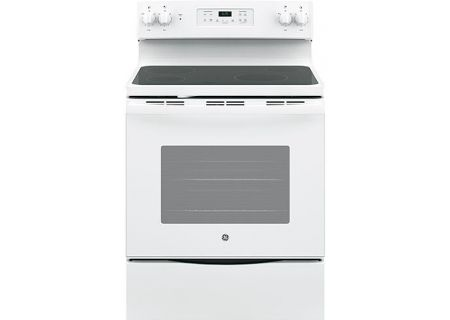 "GE 30"" White Freestanding Electric Range - JB625DKWW"